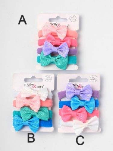 Soft Jersey Fabric Elastics with Bow