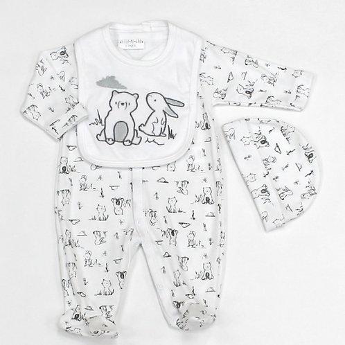 BABY UNISEX ANIMALS 3PCS SET (0-9 M)