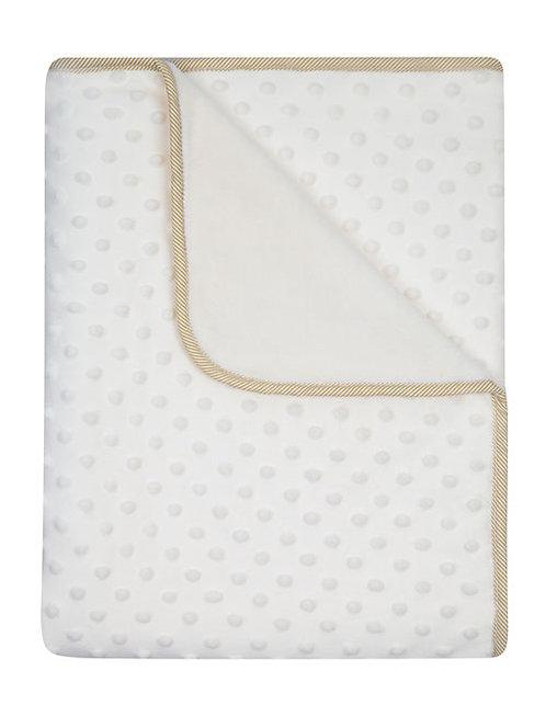 White Minky Baby Blanket