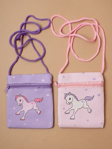 Pony print zip purse