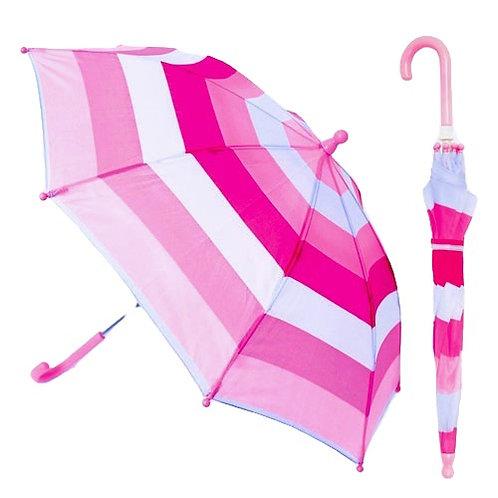 Kids Striped Umbrella Pink & Blue Stripe