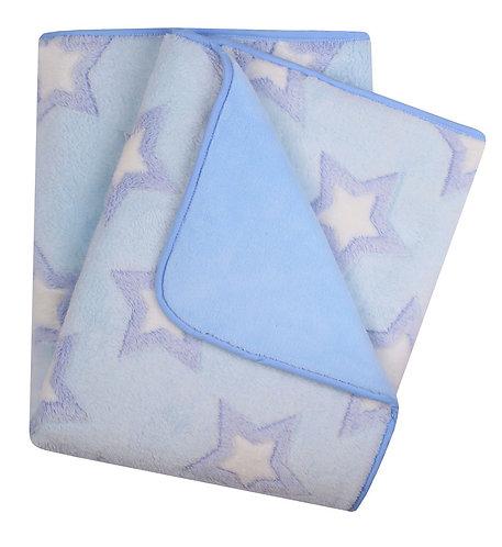 Baby Boy Luxury outdoor blanket. Warm with star print