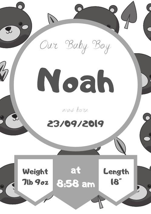 Birth Metric - Noah Design