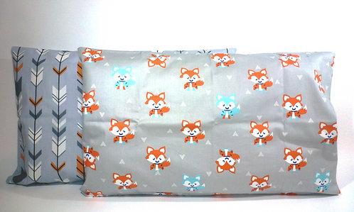 2Pk Baby / Toddler Pillowcases (Grey)