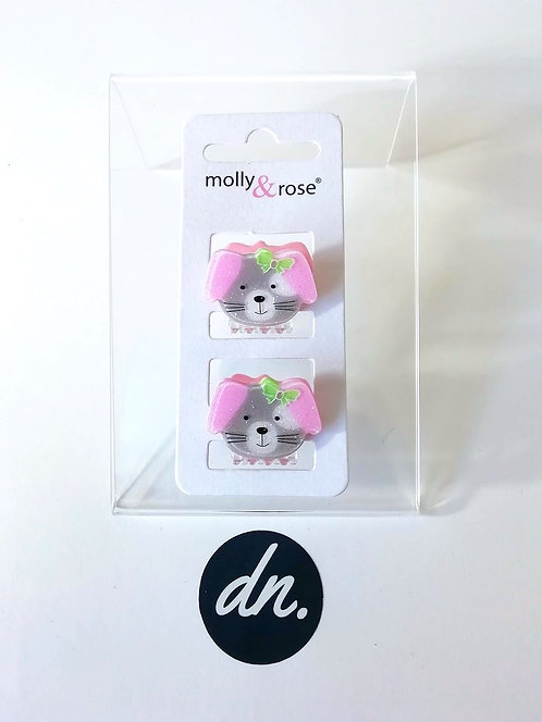 Animal Face Mini Clamps - Puppy