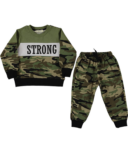 Boys Tracksuit - STRONG / Green