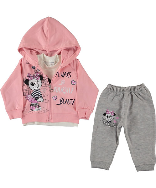 Baby Girl Tracksuit (Always Be Yourself Beauty - 3 Pieces Set)
