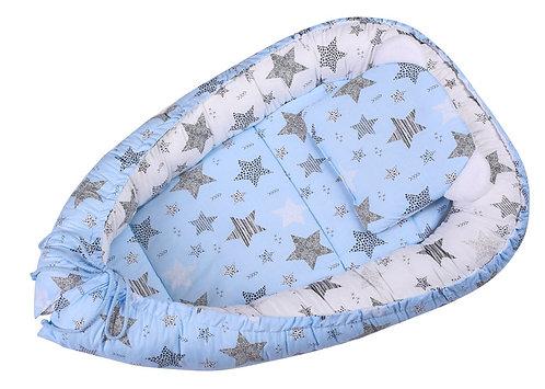 3PCS Baby Nest - Blue / Stars