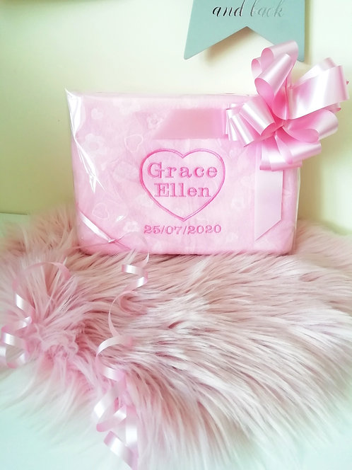 Personalised Blanket, two names and date