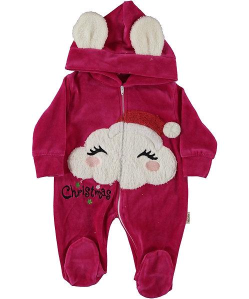 Christmas Sleepsuit (Fuchsia/VELVET)