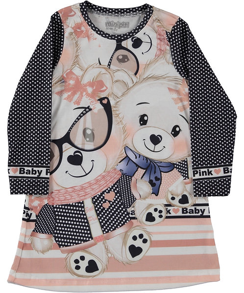Baby Pink Bear Dress