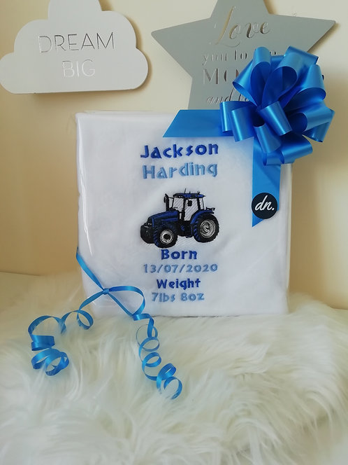 Personalised Blanket with Birth Metric
