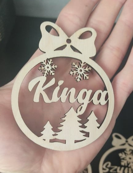 Laser Cut Christmas Decoration with name