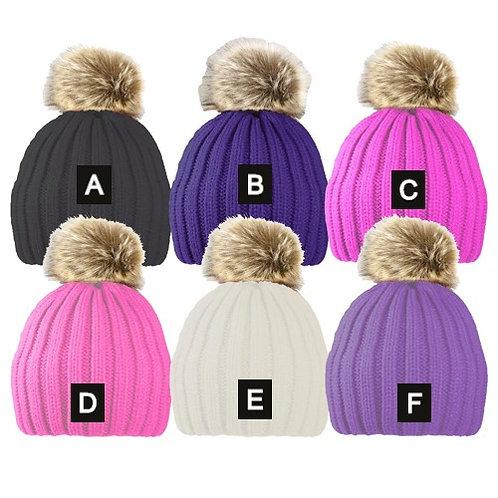 Faux Fur Pom Pom Hat (8-14 years)