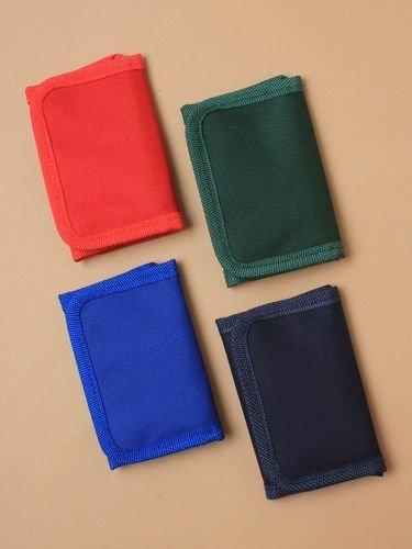 School coloured fabric wallet 11x7cm