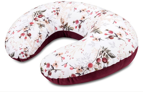 Burgundy Baby Nursing Pillow, U Shape,