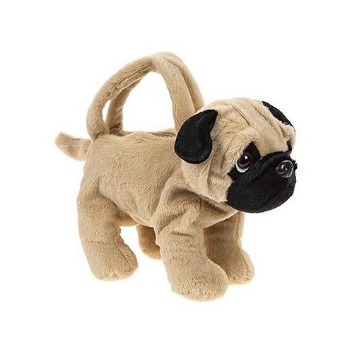 Plush Dog Handbag for Girl - Pug