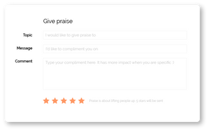 Complimenten geven software