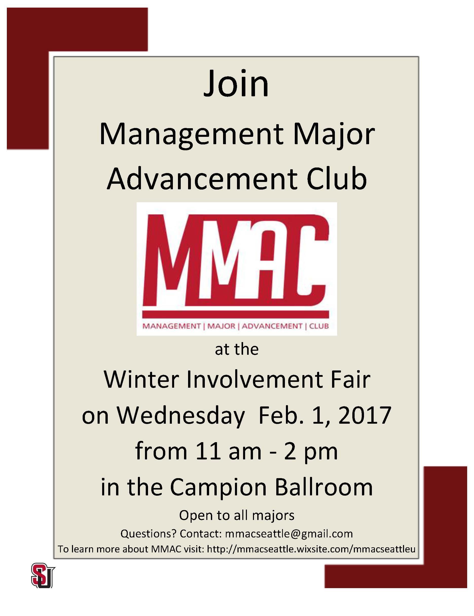 WQ Involvement Fair Flyer