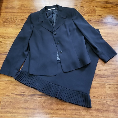 Two-Piece Skirt Suit Black Frilly Skirt