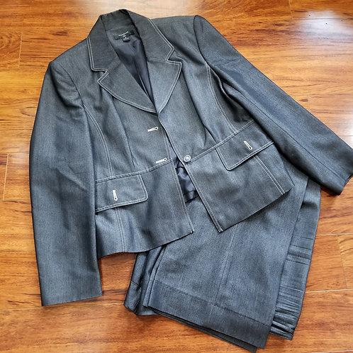 Two-Piece Denim Pants Suit