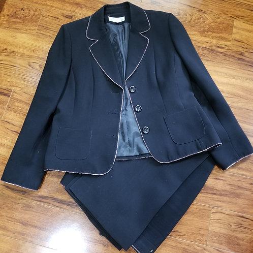 Two-Piece Black Pants Suit