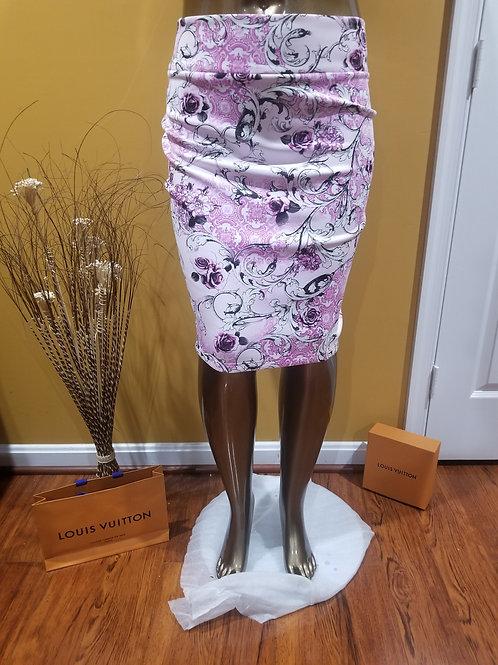 Pink & Purple Pencil Skirt