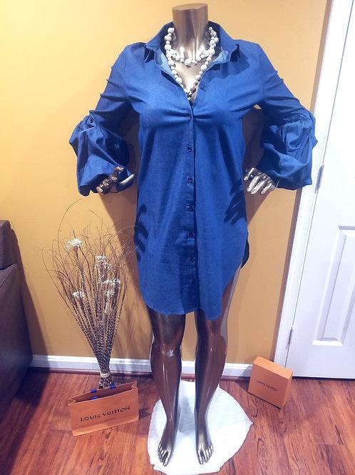 Blue Denim Dress/Blouse