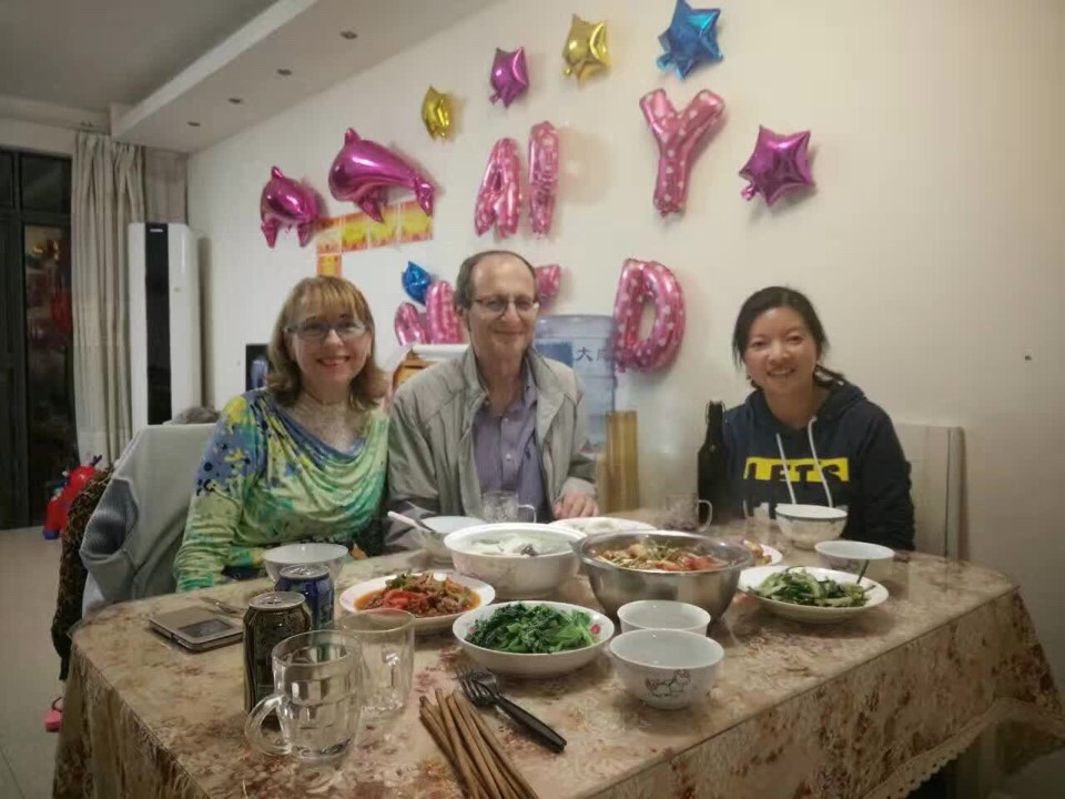 Dinner with my tourists - amazing julia your tour guide in Guilin