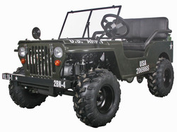 125cc Jeep - Solid Green