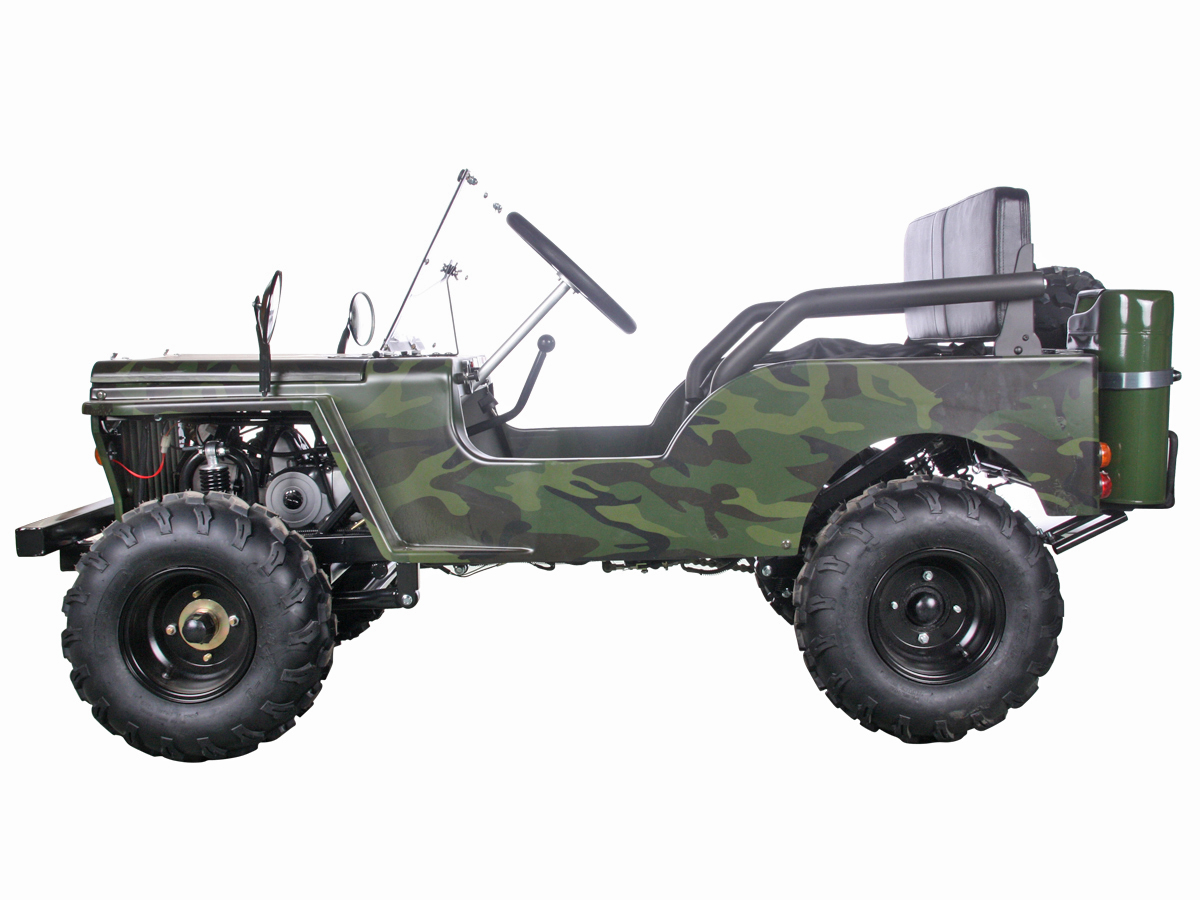 125cc Woodland Camo Jeep