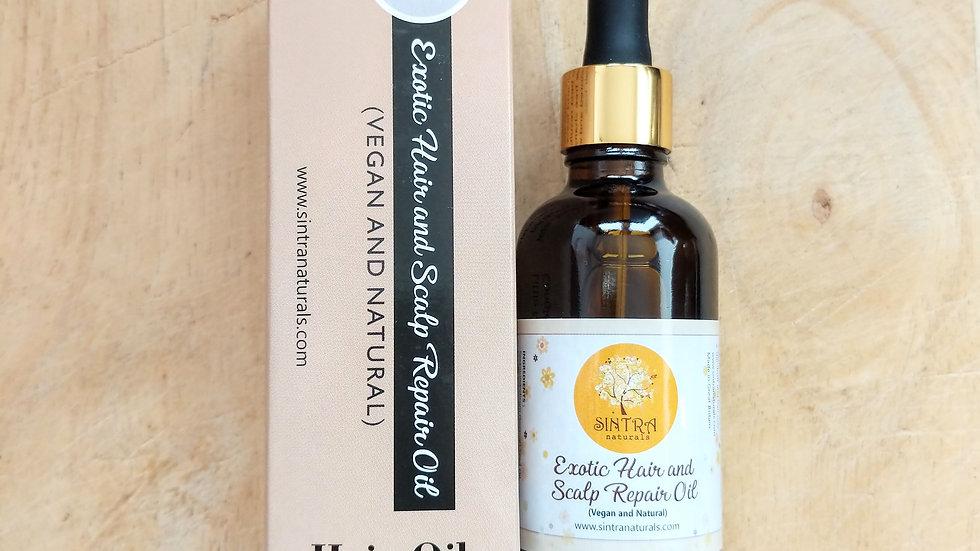 Exotic hair and scalp repair oil