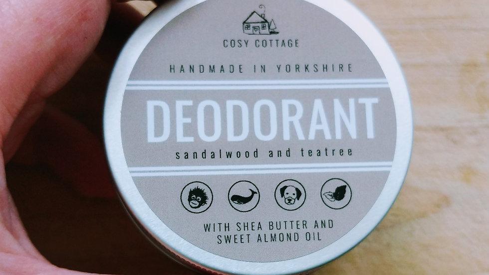 Sandalwood and tea tree deodorant