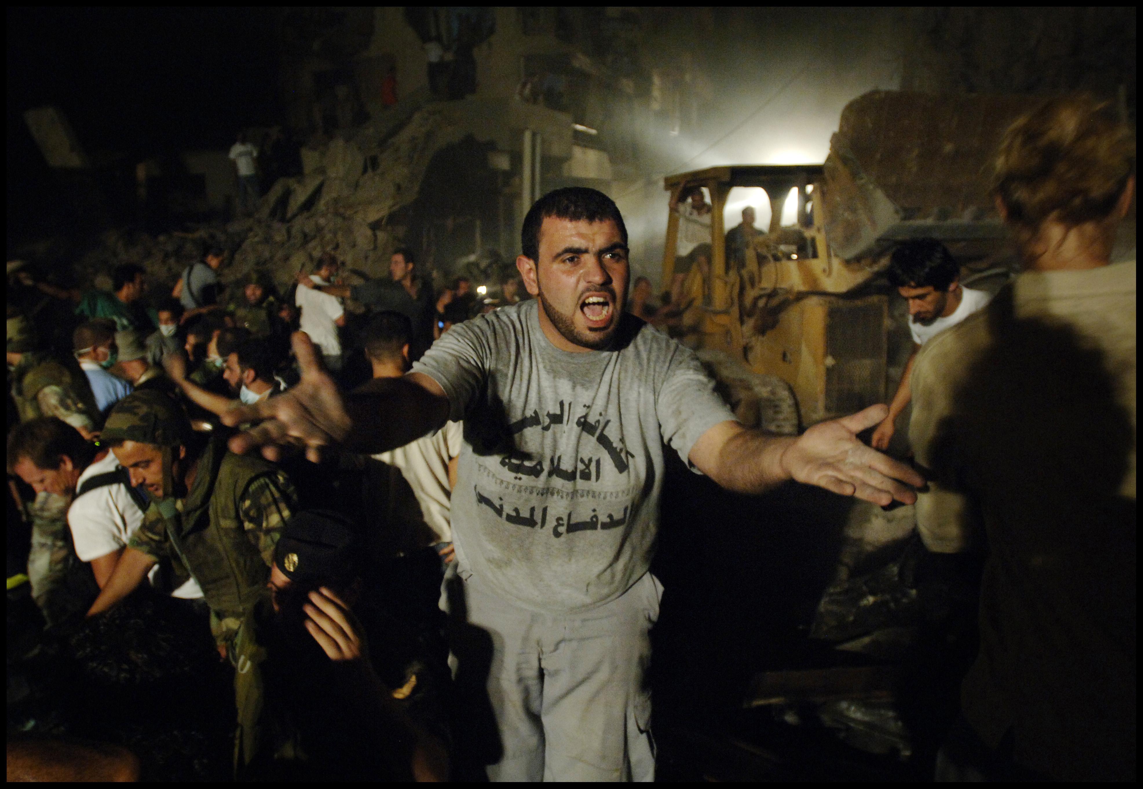 Gebombardeerd Beiroet