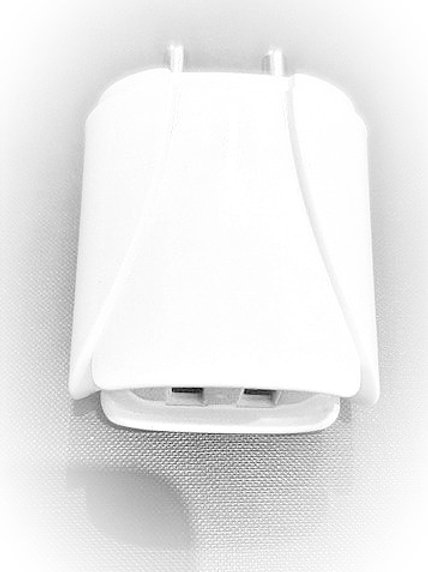 Double USB Charger-White