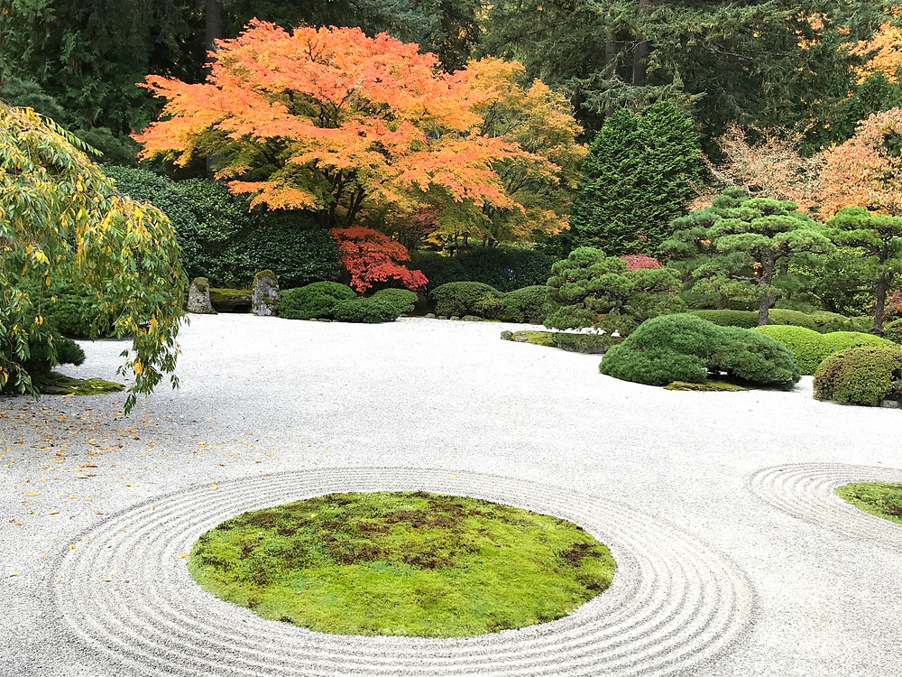 Portland Japanese Garden in fall