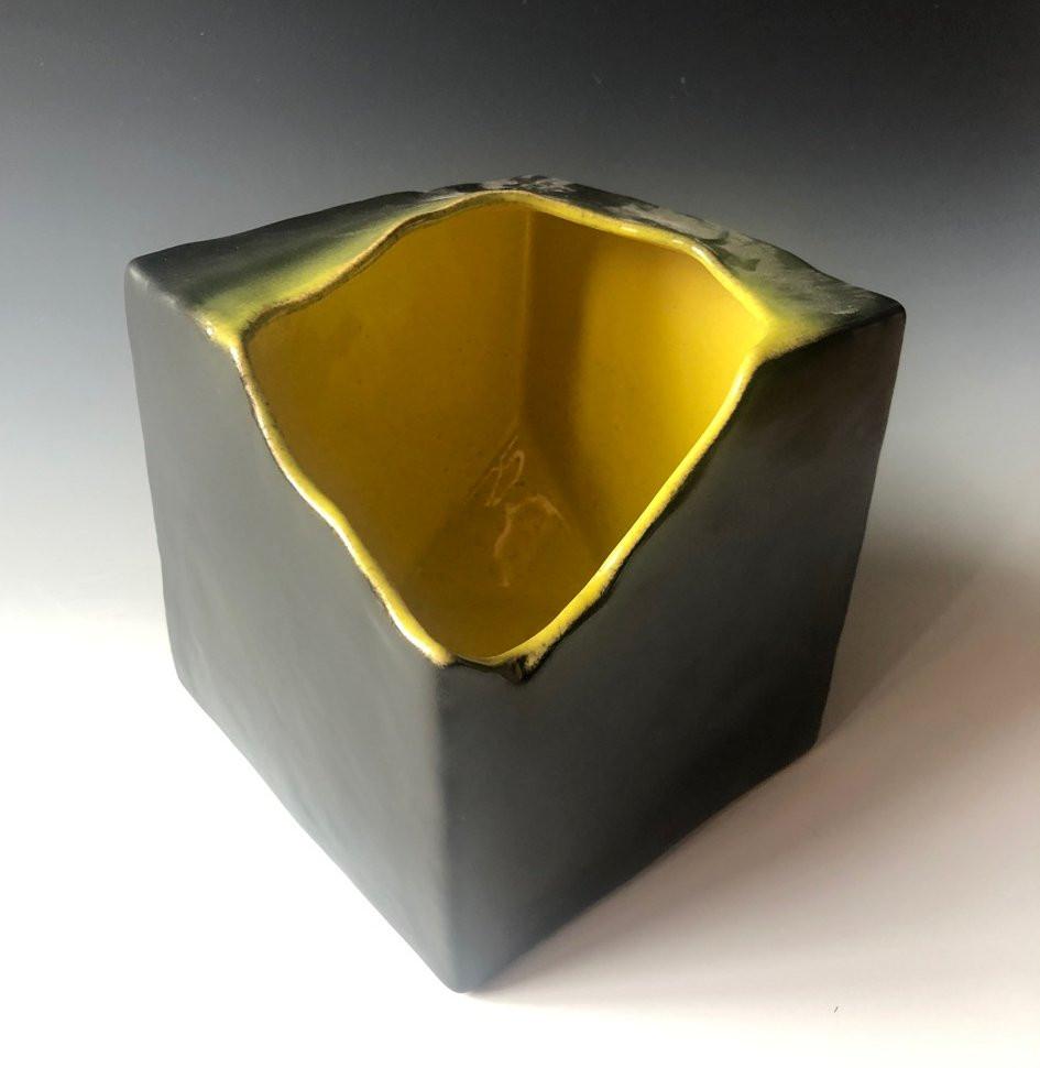 Ikebana vase, cube, freestyle