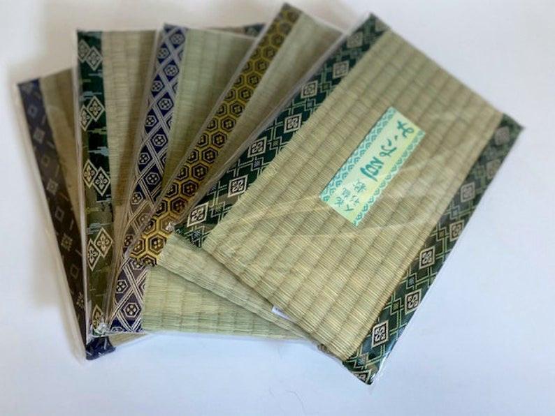 Miniature tatami mats for Japanese ikebana or bonsai.