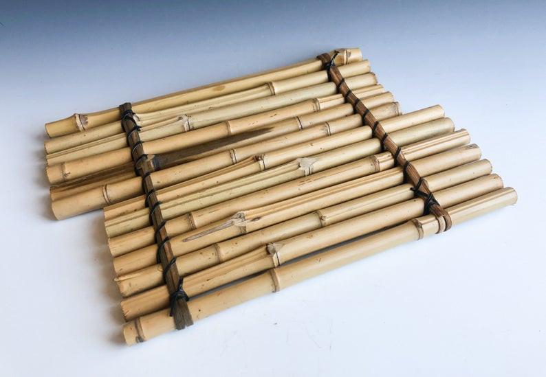 Japanese bamboo display stand for ikebana or bonsai.