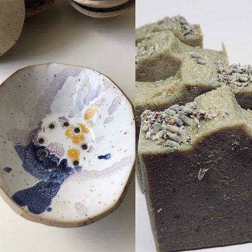 Lavender set (soap & dish)