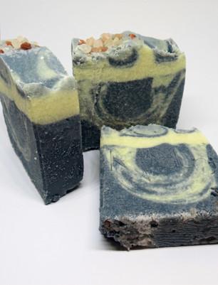 Indigo salt soap