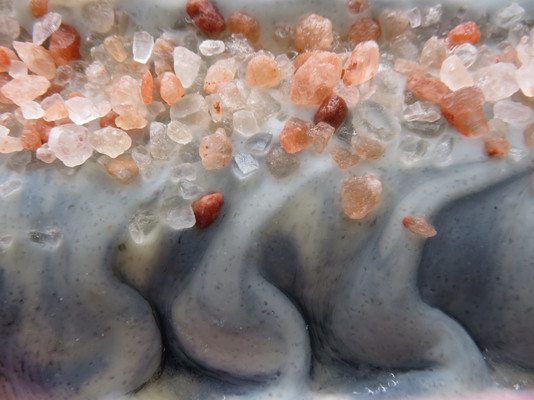 Indigo salt soap detail