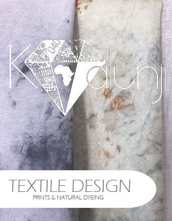 Framsida lookbook, textil, textiltryck, textiles, prints, natural dye, naturfärgning