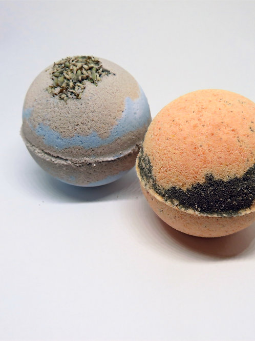 Organic Bath bombs (set of 2)  Patchouli/Sweet orange & Lavender