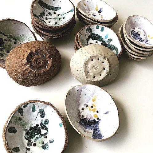 Green clay set (soap + dish)