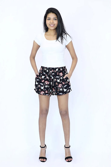 Women Shorts Garden Floral