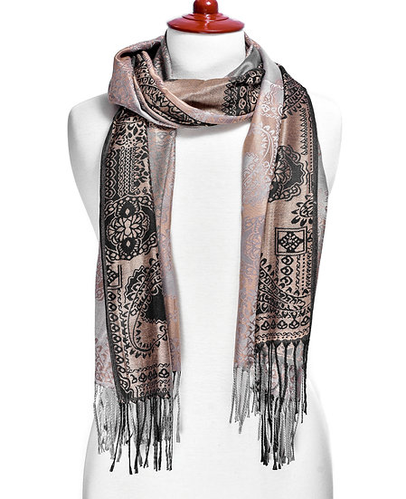 Taupe Scarf AD-208