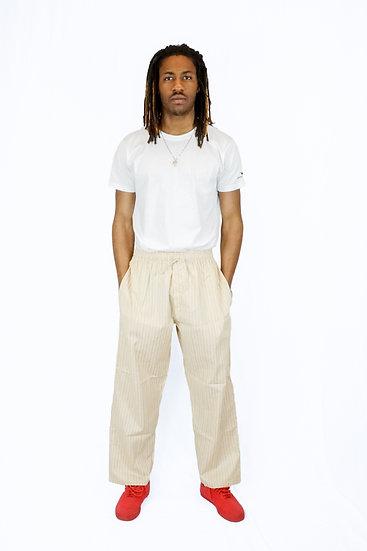 Men's Pants Khaki Pinstripe
