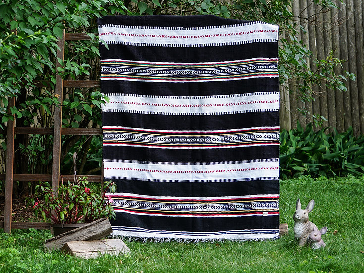 Stripe Boho Blanket