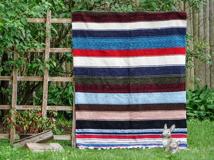 Vintage-Styled Multicolor Blanket